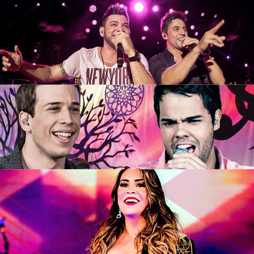 Novos vídeos de Fred & Gustavo, Marco & Lucca e Naiara Azevedo