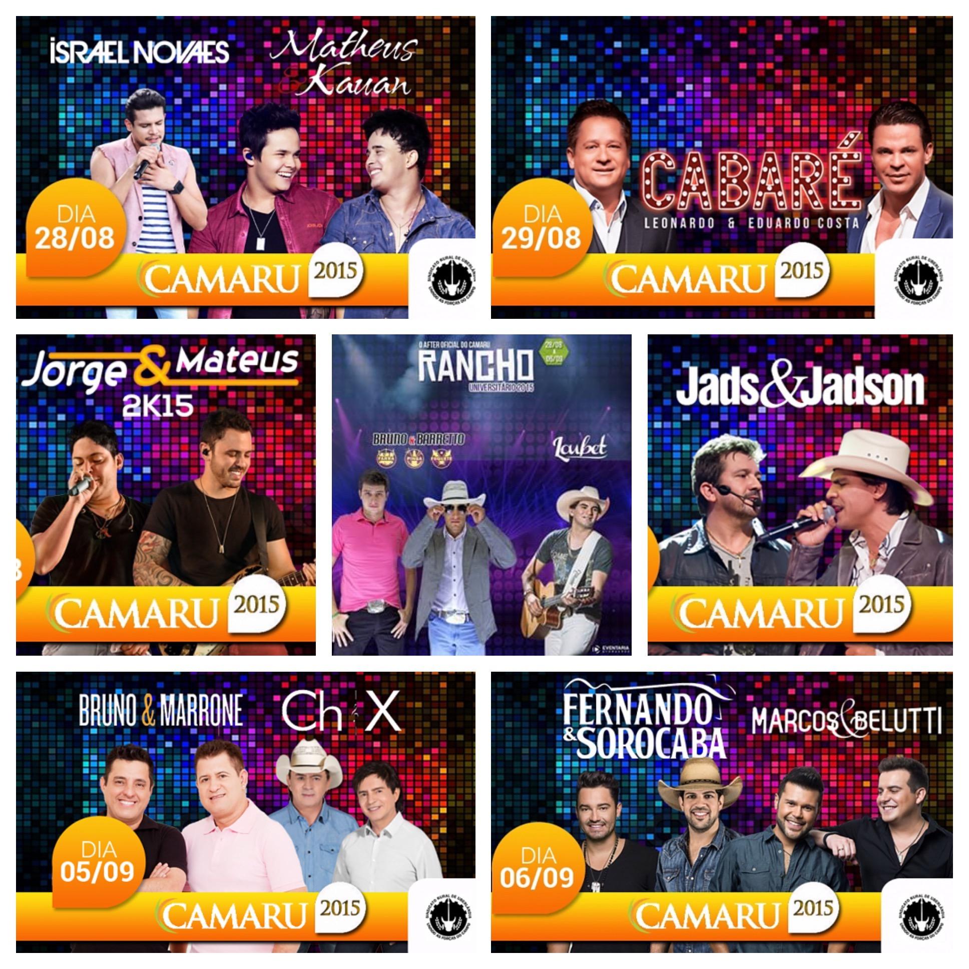 CAMARU 2015 começa hoje em Uberlândia com uma das melhores grades de shows de todos os tempos