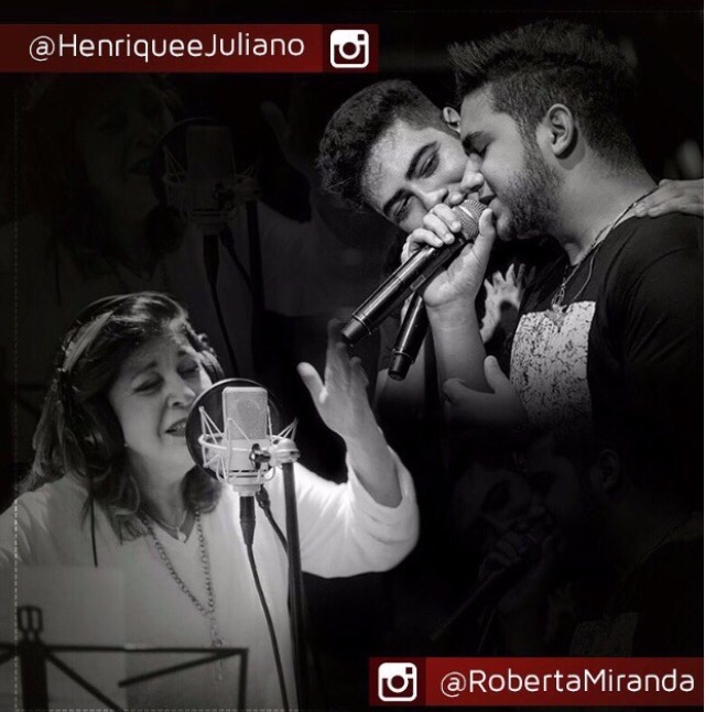 """Acho que esqueci de mim"": Roberta Miranda grava música com Henrique & Juliano. Ouça abaixo."
