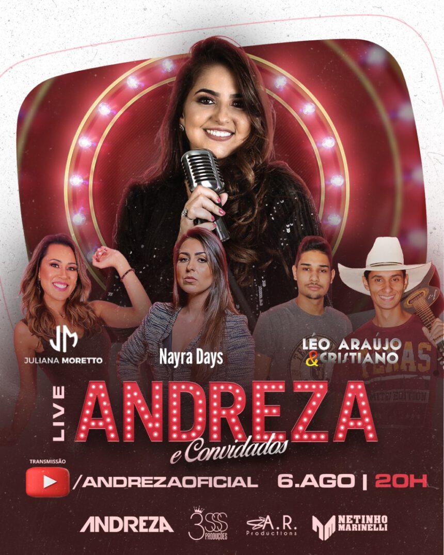 Hoje tem Live da Andreza!!!